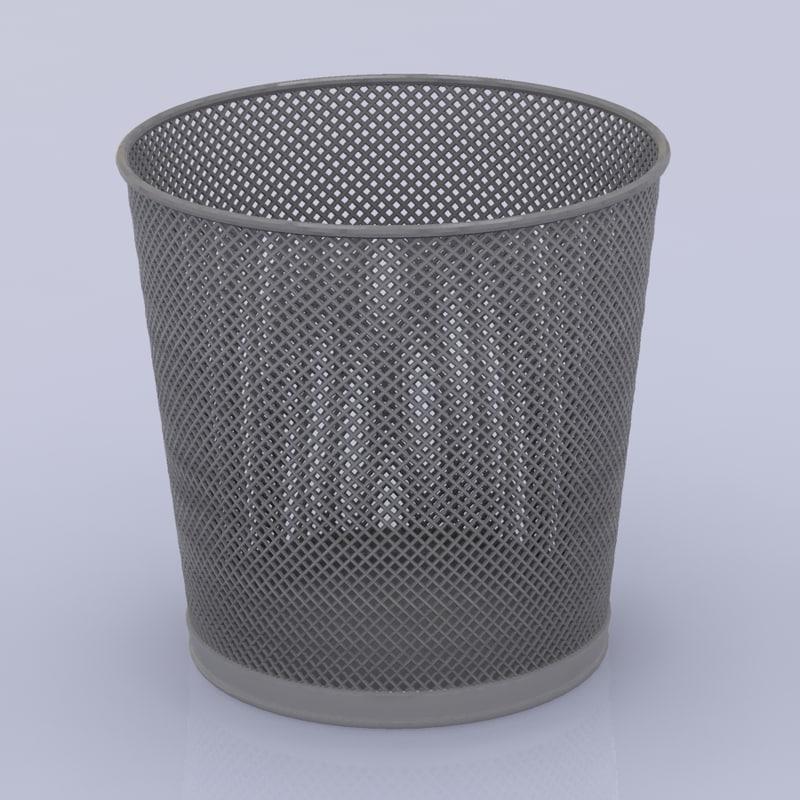 3d model trash basket