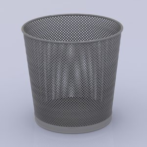 3d model trash basket