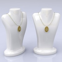 3d model of necklace mannequin stand