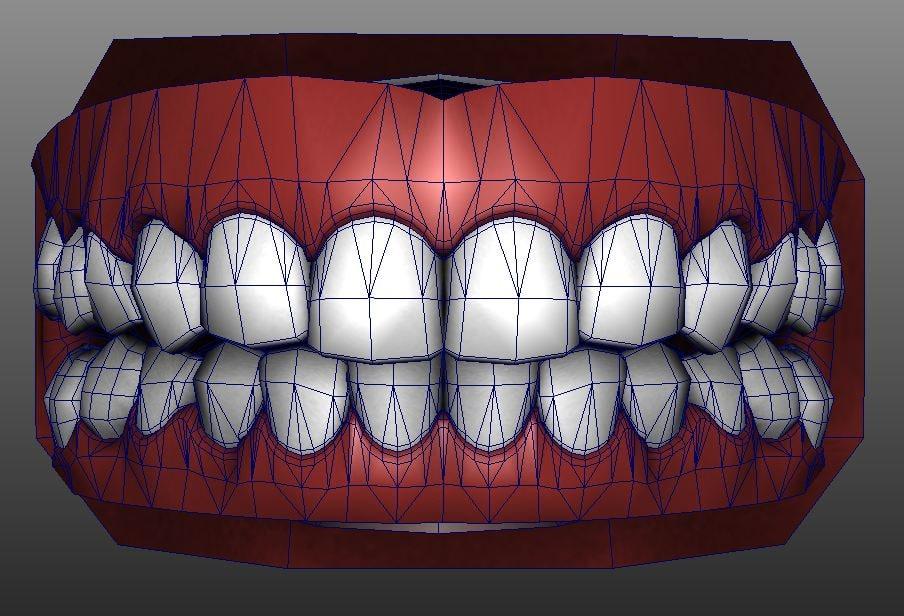 3d humans mouth