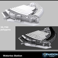 london waterloo station 3d max