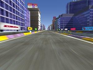 3d highway day version model
