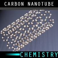 molecule carbon nanotubes 3d model