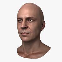 Caucasian Male Head - John
