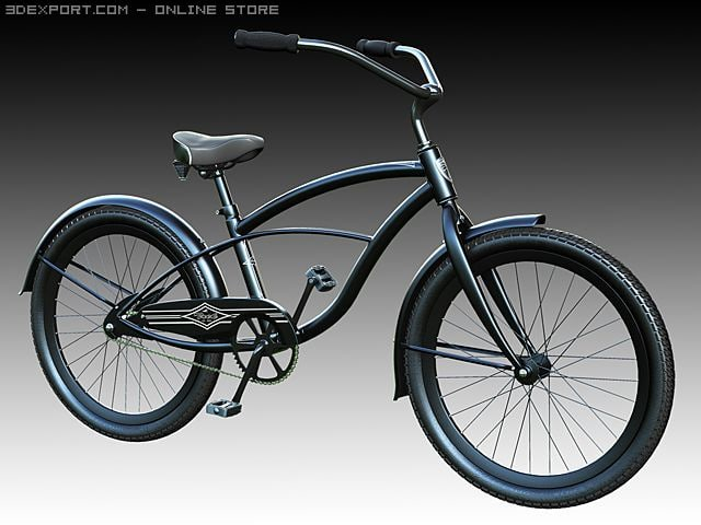 city cruiser bicycle 3d model