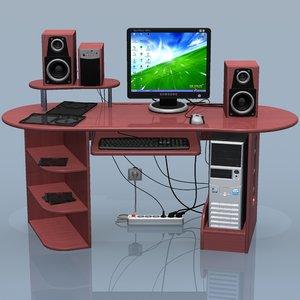 3d computer set