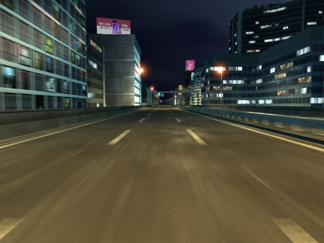3d highway night version model
