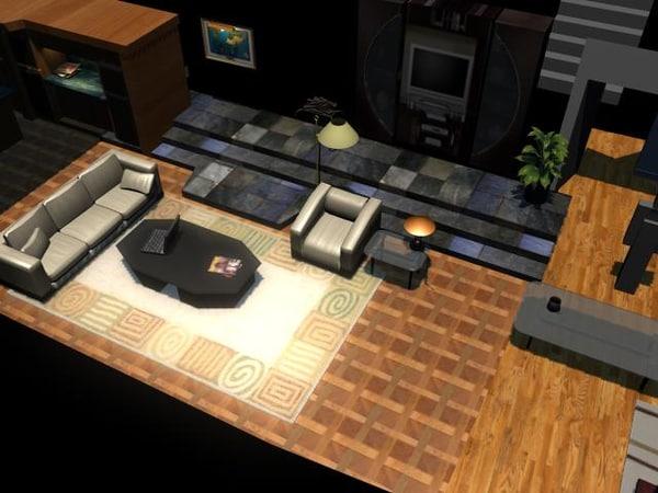 3d model home condo filler flat