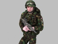 british soldier royal marines 3d model