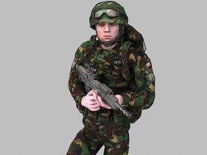 british soldier royal marines 3d model