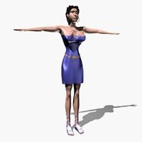 3ds max woman character tamara