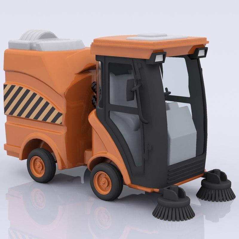 3d street sweeper model