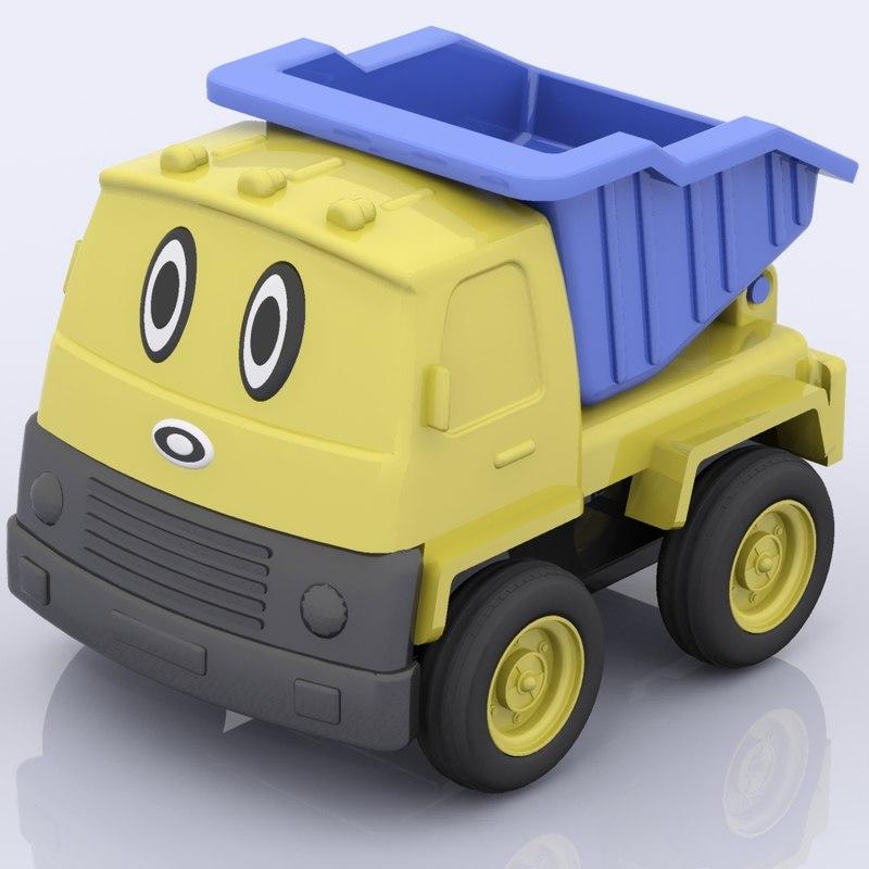 3d model plastic toy truck