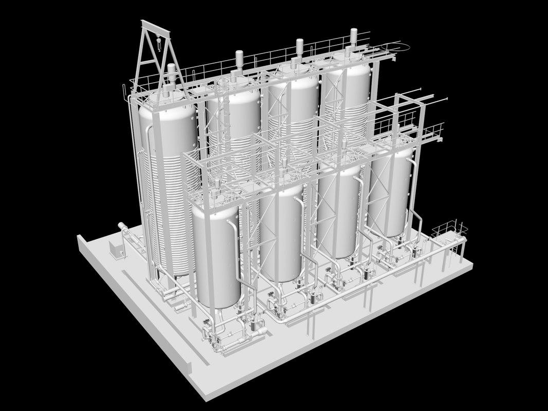 pasteurizer tanks 3d max