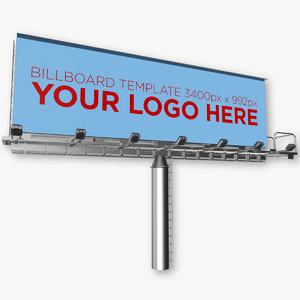 advertising billboard 3d c4d