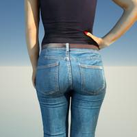 woman jeans 3d model