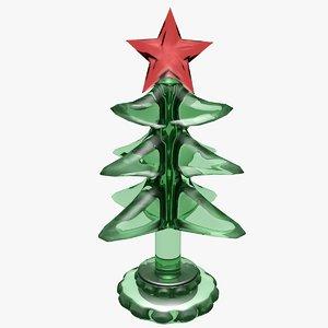 light christmas tree 3d obj