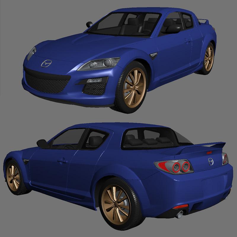 3d model mazda rx8 rx