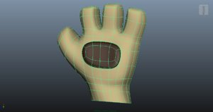 3d simple paw hand character