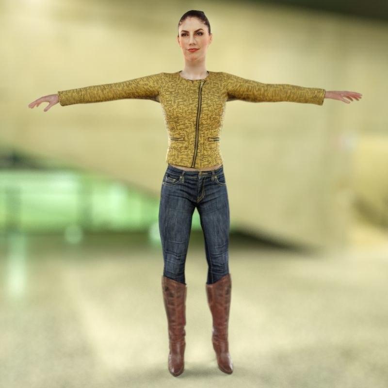 golden girl 3d model