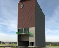 3d parking lift model
