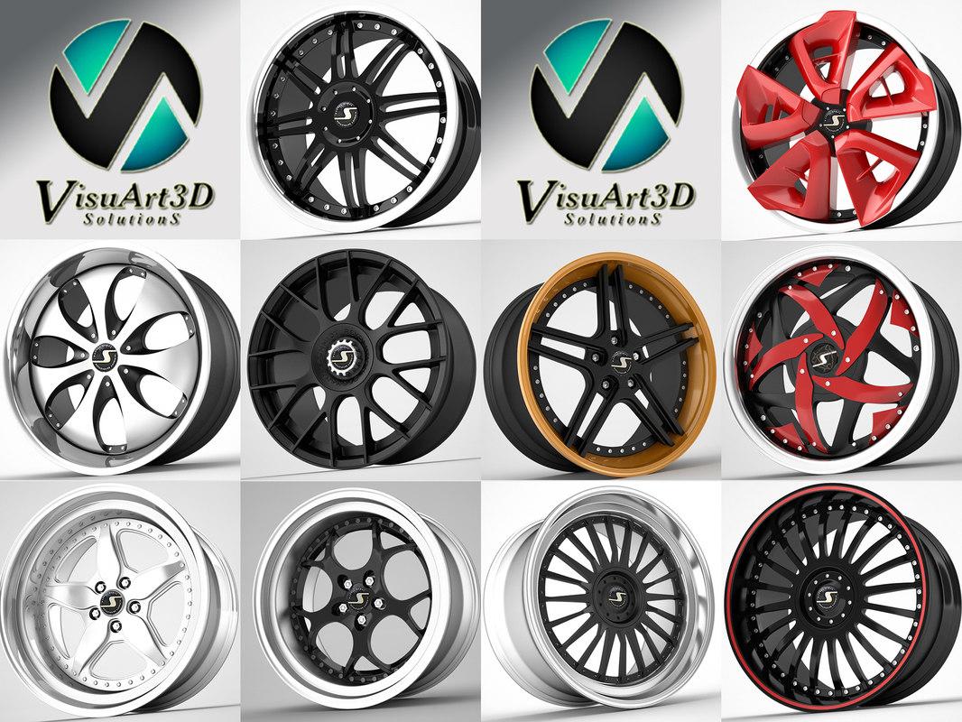 3d model schmidt wheel rims