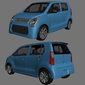 suzuki wagon r 3d max