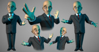 3d model toon businessman