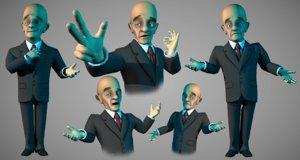 3d model toon businessman