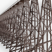 wooden trestle bridge c4d