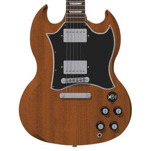 3d guitar gibson sg model