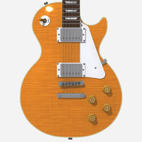 guitar gibson les 3d model