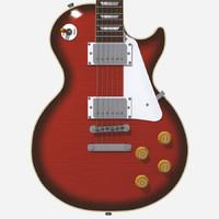 3d model guitar gibson les