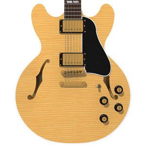 guitar gibson es 3d max