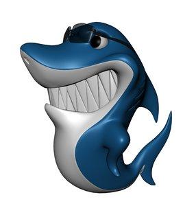 shark fish 3d obj