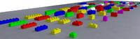 lego pieces 3d model