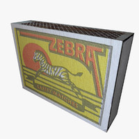 3d matchbooks match model