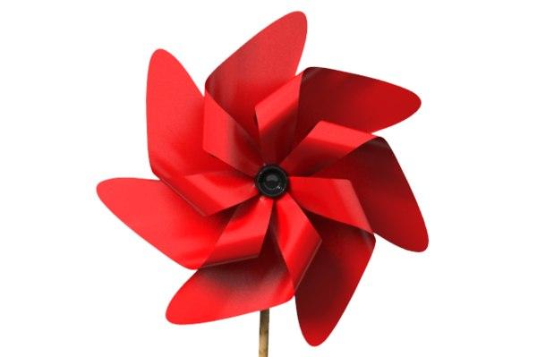 pinwheel pin wheel 3d lwo