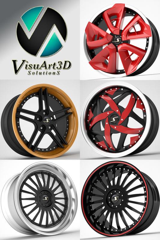schmidt wheel rims 1 3d model