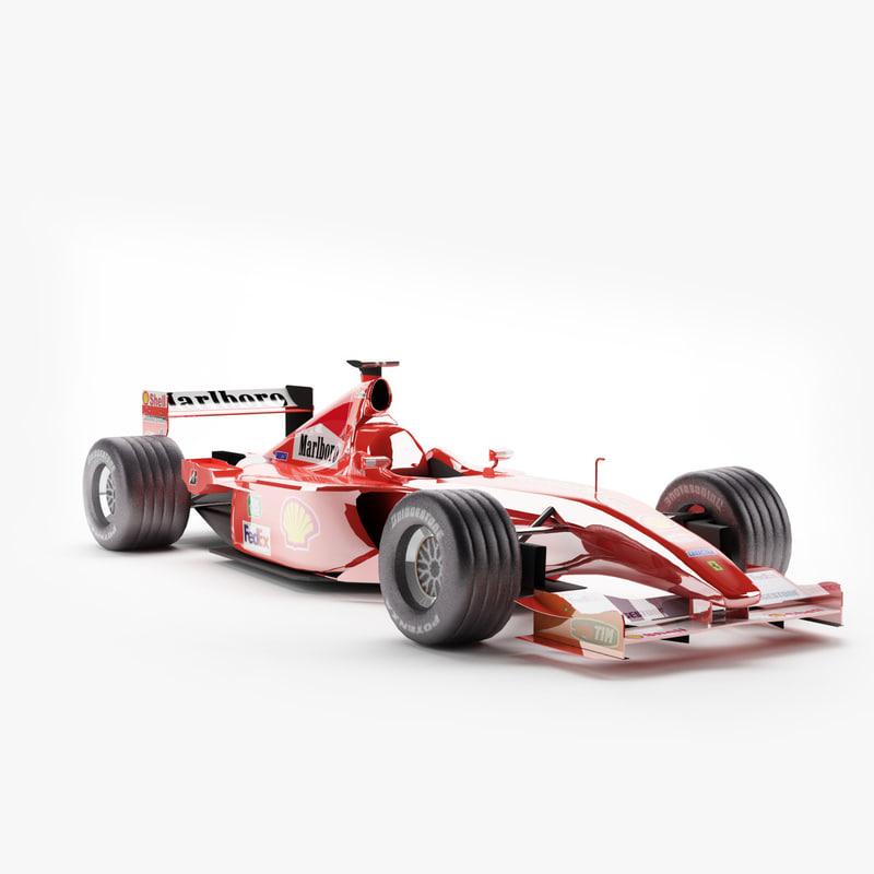 c4d ferrari f1 race car