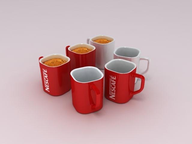 3d nescafe coffee cup model
