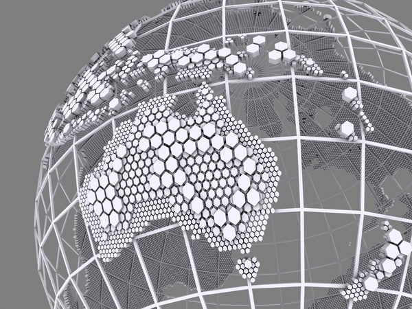max wire globe hexagonal structure