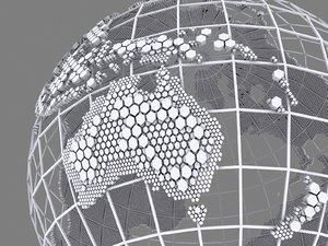 max wire globe hexagonal structure
