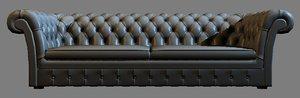 3d max baxter casper couch