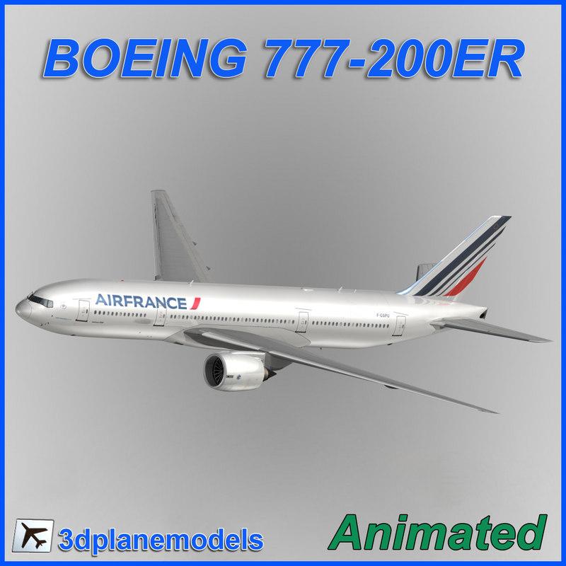 3d model of boeing 777-200er