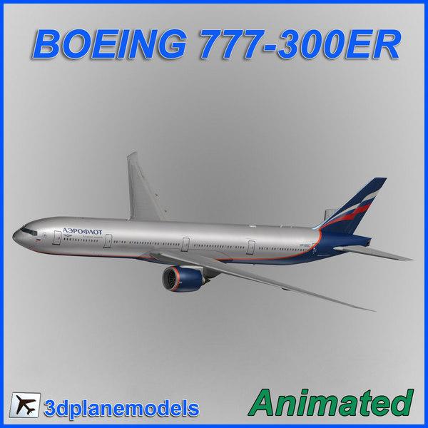 3d boeing 777-300er model