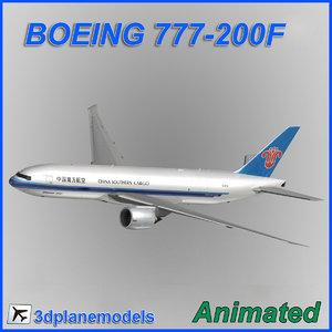 3d model boeing 777-200f cargo