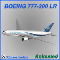 boeing 777-200lr 3d max