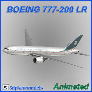 3d model boeing 777-200lr