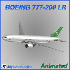 3d boeing 777-200lr model